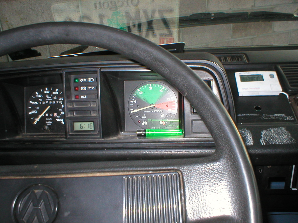 Image0 on instrument cluster clock